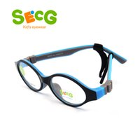 Wholesale spectacles frames wholesale kids - SECG Cute Round Optical Glasses Frame Soft Flexible Silicone Kids Glasses Transparent Children Frame Eyeglasses Spectacles