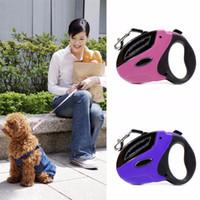 tasma tasarımı toptan satış-Köpekler Yavru Pet NEW Tasarım 5m Büyük Çekilebilir Köpek Leash Köpekler İçin Köpek Yaka Pet Traction Halat Zincir Harness Evcil Leash Kurşun