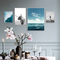 Wholesale living waters painting for sale - Group buy Unframed Nordic Style Canvas Print Painting Posters of Sea Water Waves Tow Wall Pictures for Living Room GX