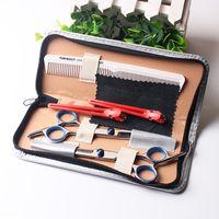 conjuntos de tesouras de cabeleireiro venda por atacado-Ferramentas de corte de salão de beleza de 6 polegadas Barber Shop cabeleireiro Tesoura Styling Tools Professional conjunto de tesoura de cabeleireiro
