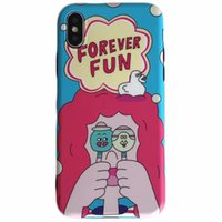 Wholesale phone case rubber cartoon - Lovely Cartoon Pattern Lollipop TPU Phone Case Cute Thin Flexible Rubber Protective Shockproof Bumper Cover For iPhone X 8 7 6s 6 Plus Opp