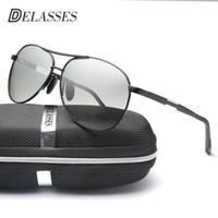 767e60048bb10 Atacado Photochromic Polarized Óculos De Sol Dos Homens de Chameleon De  Alumínio Magnésio Condução Óculos de Sol Óculos Oculos Masculino Masculino