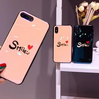 Wholesale Smile Phone Cases - Gorgeous Blue-ray TPU Soft Cover Cases Smile pattern Phone Case for iPhone 6 6S Plus 7 8 X