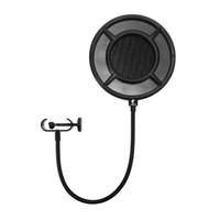 micrófonos de transmisión al por mayor-Micrófono Pop Filter Profissional Filtro Yanmai PS-1 Forma Redonda Máscara de viento Accesorio para Camgirl Web-Cast Live Broadcast Gift