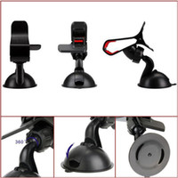 Wholesale cars phone holder for sale – best Hi Quality Universal Car AUTO ACCESSORIES Adjustable Angle Rotating Phone Windshield Mount GPS Holder