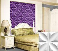 Wholesale Vintage Televisions - Clover style PUB Home Hotel KTV shop Decoration Vintage Art Light-weight 3D PVC Wall Ceilling Panels (purple and more color)