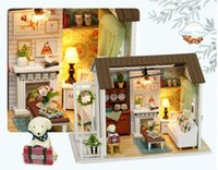 Sylvanian Families House DIY Wooden Puppet House Hand Assembled Model House Kids Toys Crafts for Children Juguetes Brinquedos