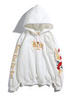 weißer hoodie für männer großhandel-Winter Herbst Männer KANYE Weat Langarm Hip Hop Designer Hoodies Lose Mode Schwarz Weiß Sweatshirts M-2XL