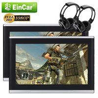 "Wholesale Russian Free Tv - 10.1"" Headrest Monitor car DVD Player Ultra-thin Digital TFT 1080P HDMI Function USB SD Port Speaker 32Bit Games Free IR headphone remote"