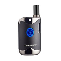 mods de cronometraje al por mayor-Kits de inicio TH420 baratos con batería de 650 mAh TH-420 Box Mod para 0.5ml Atomizador de tanque de cartucho de aceite grueso 100% original