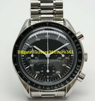 Wholesale moon faced watches for sale - Group buy store361 new arrive watches Professional Quartz Moon Watches Tachymetre Black Face Full Stainless Steel Band Skeleton Planet Ocean Mens Watc