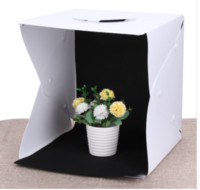 Wholesale photography box kit - 2018 Hot Selling Portable Mini Photo Studio Box Photography Backdrop built-in Light Photo Box Photography Backdrop Box Lightbox
