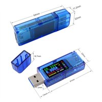 Wholesale digital current tester resale online - new arrival Digital USB Tester QC Color LCD Voltmeter ammeter v voltage current meter multimeter battery charge power bank