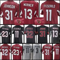 Wholesale footballs johnson - Arizona Men's Cardinal Jersey #11 Larry Fitzgerald 31 David Johnson 32 Tyrann Mathieu 3 Carson Palmer Stitched Jerseys Cheap sales