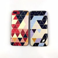 Wholesale figure apple - Gorgeous Porcelain Plating TPU Soft Cover Geometric Figure Pattern Phone Case for iPhone X 8 7 6 Plus