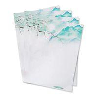 enveloppes vertes achat en gros de-40pcs lettre d'amour romantique, enveloppes nouvelles étudiant, vent chinois rétro belle enveloppe de paysage, vert-SCLL