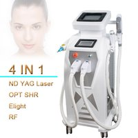 Wholesale white tattoo pigment - E Light IPL Hair Removal ND Yag Laser Pigment Removal Q Switch Tattoo Removal RF Skin Lifting laser skin white Machine