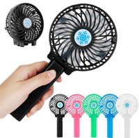 Wholesale usb operated fan - Rechargeable Fan Air Cooler Mini Operated Hand Held 1200mah Desk Pocket USB Portable Office Fan Outdoor Gadgets OOA5194
