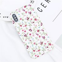 Wholesale iphone floral cases - Colorful Flower Leaf Print Phone Case For Iphone X Floral Leaves Hard PC Back Cover Cases For Iphone 6 6S 7 8 Plus