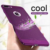 teléfono celular ultra delgado al por mayor-Cajas del teléfono celular ultra delgadas para iPhone X 8 Plus 6 6s 7 Casos de disipación de calor huecos Contraportada dura de la PC