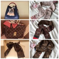 Wholesale tiger print bags - Fashion Tigers Floral Handbags Print Small Rectangle Scarf Headband Brand Soie Twill Silk Scarves Female Can For Handbags Bag Ribbon
