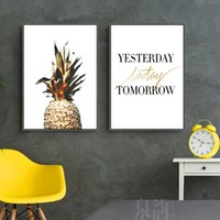 Wholesale canvas kitchen wall art - 2018 nordic simple Wall Art Canvas Paintings home Wall Pictures Living Room kitchen bedroom Decoration painting pictures