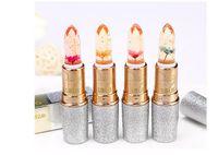 flower jelly lipstick großhandel-UBUB Traum Sterne Gelee Lippenstift Blume Temperatur Farbwechsel Wasserdicht Feuchtigkeitsspendende Lippenstifte Mode Kristall Qualität Lippen Make-Up