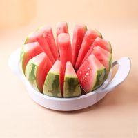 cuchillos de melón al por mayor-Cocina Práctica Cortadora De Sandía De Metal Cortador De Frutas Utensilios De Cozinha Cuchillo De Melón Cortador De Melancia