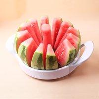 cantaloupe slicer großhandel-Küche Praktische Metall Wassermelonenschneider Obstschneider Utensilien De Cozinha Kantalupenmesser Cortador De Melancia