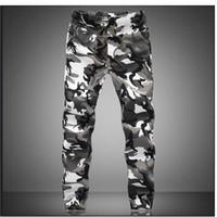 homens calças casuais militares venda por atacado-M-5X Mens Basculador Outono Lápis Harem Pants Calças Dos Homens Camuflagem Calças Soltas Confortáveis Calças De Carga Camo Corredores