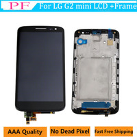 Wholesale lg g2 frame - Original LCD Screen For LG G2 mini D620 D618 Touch display Digitizer Assembly 4.7inch Cellphone Touch Panels With Frame