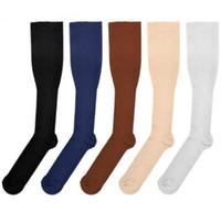 heiße strumpfbeine großhandel-Hot Miracles Socken Anti Fatigue Compression Stocking Beinlinge Abnehmen Socken Wadenstütze Relief Socken 6 Farben S / M L / XL
