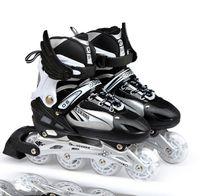 роликовые коньки оптовых-Professional Adjustable Adult Sliding/Slalom Inline Skates Shoes Roller Skating Shoes Roller Skate With Shinning Wheel