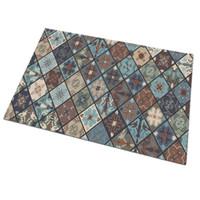 ingrosso quadrati di stuoia di schiuma-diamante ebraica schiuma tappetino quadrato di gomma naturale zerbino Front Door tappetini d'ingresso coperta antiscivolo Tappeti pavimento del corridoio