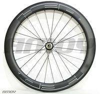 Wholesale free bicycle wheels resale online - mm width HED black paint mm carbon bicycle wheelset full carbon C road bike wheels