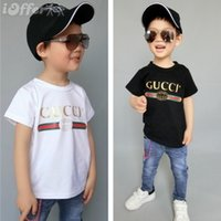 Wholesale baby boy years old clothing online - 2018 summe Hot designer brand years old Baby boys girls T shirts r shirt Tops cotton children Tees kids Clothing colors AAA