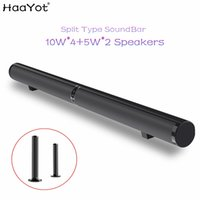 Wholesale speaker optical online - HAAYOT Split Type W HIFI Wireless Bluetooth Speaker Stereo Soundbar Support USB Optical RCA HDMI Subwoofer for TV Sound Bar Home Theatre