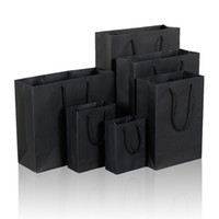 Wholesale new year bag packaging resale online - 10 Size Black Paper Gift Bag With Handle Wedding Birthday Party Gift Christmas New Year Shopping Package Bags LZ1338