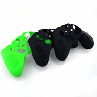 funda protectora para el controlador xbox one al por mayor-Venta caliente 10 unids / lote Protectores de Silicona antideslizantes Protector de la Cubierta Protectora de la Piel de Goma para Xbox One Controlador Xbox one Elite Controller