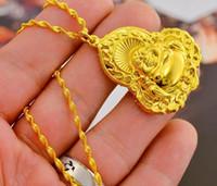 collar de mano de buda al por mayor-El collar de oro de Buddha belly colgante de cadena establece su mano femenina