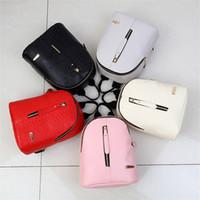 Wholesale small black back pack resale online - High Quality Backpacks Hot Cute Korean Small New Women Back Pack PU Alligator Bags Fashion Mini Backpack Bags