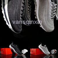 Wholesale swarovski new - New 97 lX Swarovski Casaul Running Shoes Top Quality 97 Vivid Sulfur-Black Outdoor Sports Shoes 36-45