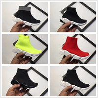 Wholesale children boys shoes for sale - Boys Girls Luxury Sock Paris Shoes Speed Runner Kids Running Shoes Children Babys Summer Casual Athletic Sport sneakers size
