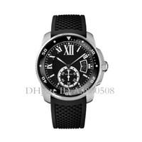 relojes de calidad para hombre al por mayor-Top Luxury CALIBER Reloj para hombre Regalo de alta calidad Movimiento automático Reloj mecánico Goma deportiva Relojes para hombre