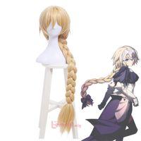 заказать парики оптовых-Бесплатно shippingFate Grand Order Saber Alter длинные косы стиле парики волос Блондинка косплей парик