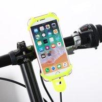 передвижная подставка для мотоциклов оптовых-4colors многофункциональный Силиконовый мотоцикл мобильный телефон держатель GPS мобильный телефон стенд велосипед держатель руля автомобиля
