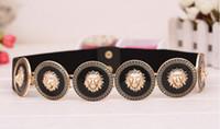 ingrosso cintura elastica verde-Cinture di marca delle donne eleganti Bellezza di moda Medusa Cintura vintage di testa di leone Cintura di lusso Cintura di design cinghia femminile di lusso
