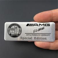amg adesivo mercedes venda por atacado-Mercedes Benz Edição Especial Affalterbach Alemanha Amg Emblema Do Logotipo Da Marca Fender Emblema Adesivo Decalque