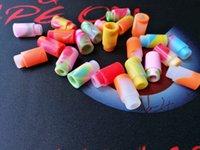 probador de goteo consejos al por mayor-Tapa de boquilla de silicona Punta de goteo de goma Colorido arco iris Silicona Desechable Prueba de prueba universal Probador Cap Para 510 hilos Vape Tank DHL
