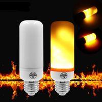 Wholesale flame lights resale online - LED E14 E27 Flame Bulb Light W LM AC85 V E26 Aluminum Clear Lamp Warm K Gravity Sensor Indoor Lighting Direct from Shenzhen China